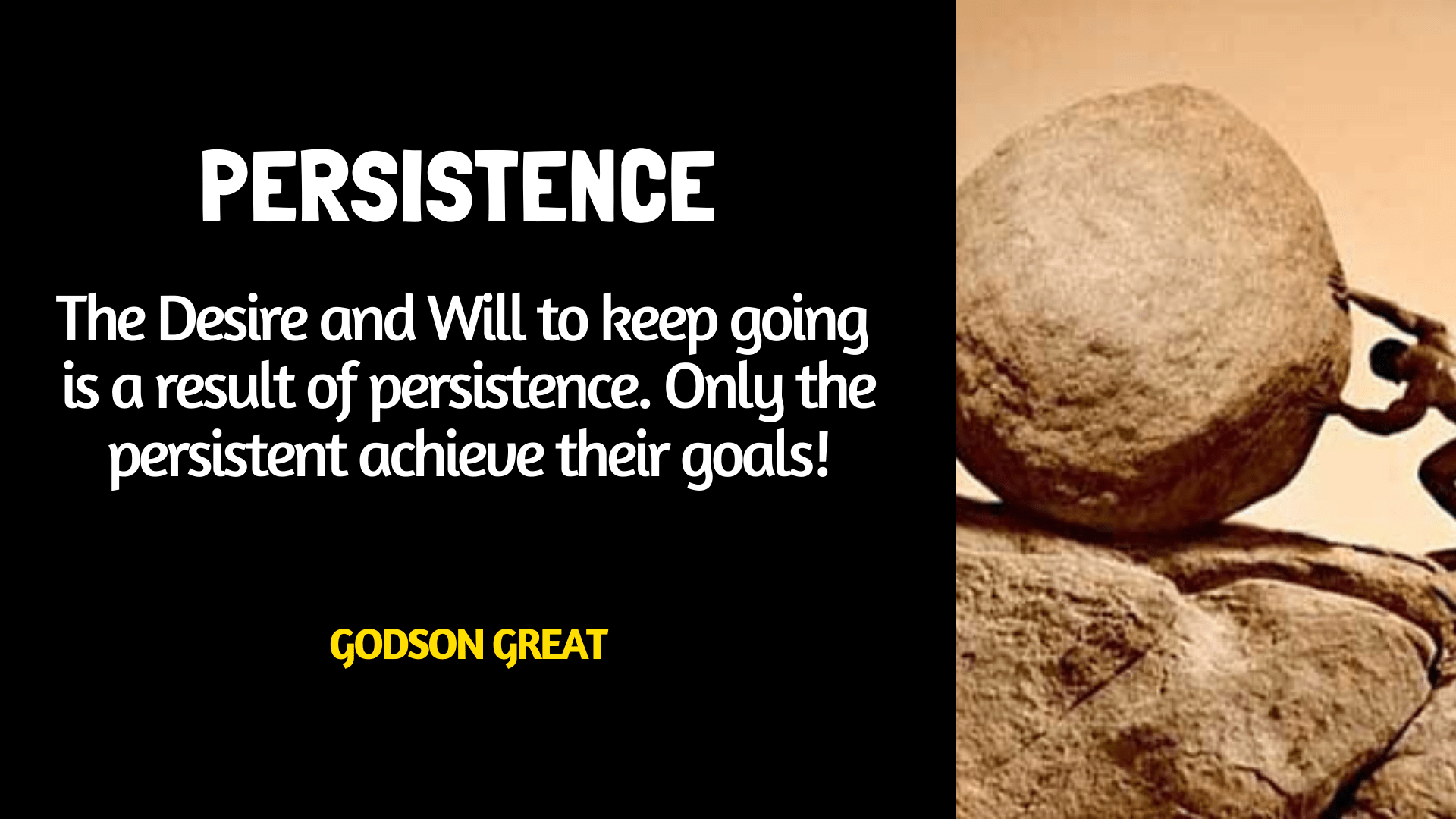 what is persistence- Godson Great